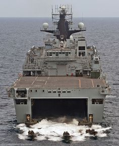 HMS Albion, an amphibious transport dock of the Royal Navy, is the ninth ship to carry the name Albion (after Albion, an ancient name of Great Britain), stretching back to the 1763 warship of the same name. Marine Commandos, Us Navy Ships, British Armed Forces, Navy Aircraft, Royal Marines, Aircraft Carrier, Royal Navy, Water Crafts, Battleship