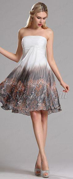 eDressit strapless prom dress,, beach party dress, cocktail attire