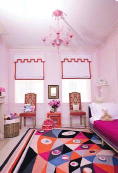 Children 39 s bedrooms on pinterest girl rooms roman for Kids room window treatment