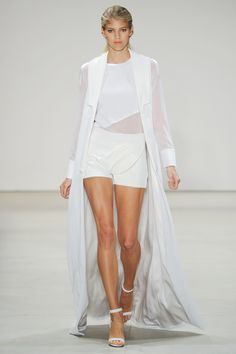 Light, sheer fabrics with a touch of sport at #Karigam #SS16 #nyfw