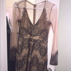 Tan and black dress Black and tan dress size small worn once Dresses Mini
