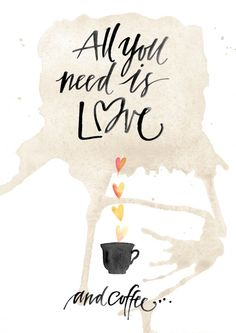 All you need is love & coffee - poster - Folkelind Form - Formgivare