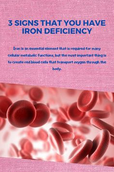 is an essential element that is required for many cellular metabolic functions, but the most important thing is to create red blood cells that transport oxygen through the body. Healthy Foods To Eat, Healthy Eating, Enlargement Pills, Iron Deficiency, Red Blood Cells, Essential Elements, Male Enhancement, Metabolism, Health And Wellness