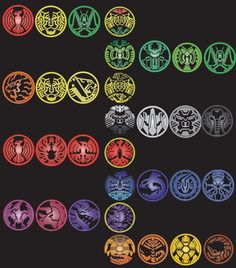 An update to my original Kamen Rider OOOs combos art with the last to forms. Kamen Rider OOOs all combos and medals Kamen Rider Ooo, Kamen Rider Series, Mighty Morphin Power Rangers, Anime Cat, Photo Canvas, Photo Manipulation, Knight, Geek Stuff, Canvas Prints