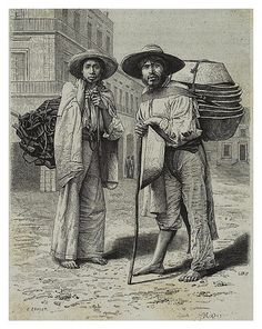 Coil vendors, travel to Mexico, Claude Charnay, 1885.