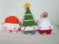 Lalylala 4 seasons/ Jahreszeiten, Weihnachten, Amigurumi, Kawaii, Set aus 3 St. in Bastel- & Künstlerbedarf, Handarbeit, Häkeln & Stricken | eBay!