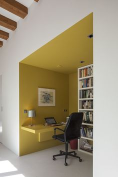 Home office study work space reading nook Deco Design, Wall Design, House Design, Cores Home Office, Room Colors, House Colors, Bedroom Wall, Bedroom Decor, Interior Architecture