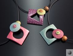 Sorbet necklace samples, by Bettina Welker