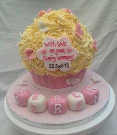 Baby naming ceremony cake