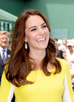 Catherine, Duchess of Cambridge watches on over the outdoor courts during the Wheelchair Singles matches on day ten of the Wimbledon Lawn Tennis Championships at the All England Lawn Tennis and Croquet Club on July 7, 2016 in London, England.