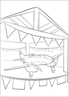 Desenhos para pintar Aviões 21
