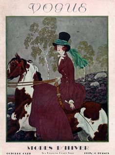 ⍌ Vintage Vogue ⍌ art and illustration for vogue magazine covers - 1928 Cover