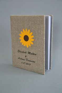 Personalized linen photo album Rustic wedding photo by pastinshs