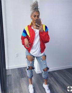 What Anxiety Feels & Looks Like Fashion Killa, Look Fashion, 90s Fashion, Fashion Outfits, Womens Fashion, Fashion Trends, Urban Fashion Girls, Vintage Fashion, Chill Outfits