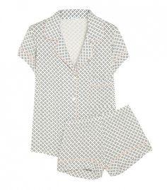 Eberjey Batik Pajama Short Set // Perfect for a stylishly cozy Christmas morning!