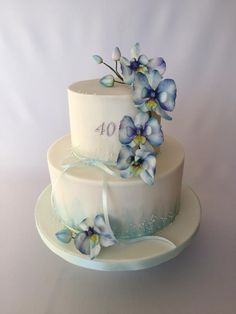 Blue orchid cake by Layla A