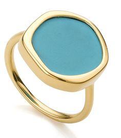 Monica Vinader - Gold Vermeil Atlantis Gem Ring - Turquoise