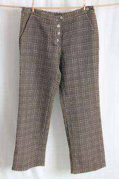 COCON.COMMERZ PRIVATSACHEN  POMERANZE Hose aus SEIDENSTEPP in braun Gr. 2 #nachhaltig seit 1984 #seide #leinen #linen #silk #handgefärbt  #shibori #hand-dyed