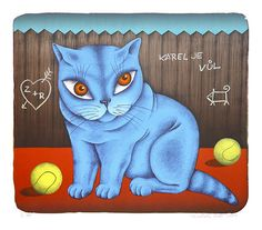- paintings, books and cats of naive artist from Czech Republic. Cat Silhouette, Naive, Cat Art, Czech Republic, Cats, Silhouettes, Artist, Painting, Fictional Characters