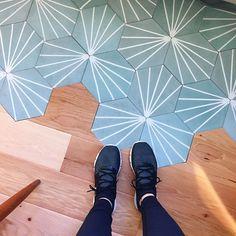 Cement Tile Shop - Encaustic Cement Tile Starburst Hex Natural Gray