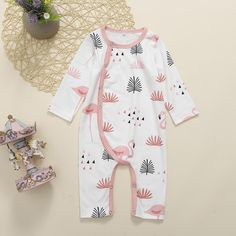 Lili + Lee provides parents with exclusive collection of baby clothing & accessories. Baby Boy Jumpsuit, Jumpsuits For Girls, Romper Outfit, Flamingo Print, Online Clothing Stores, Baby Kids, Kids Fashion, Pajamas, Rompers