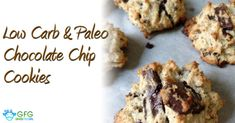 Free Low Carb and Paleo Chocolate Chip Cookie Recipes are offered on our blog entitled Grass Fed Girl. This recipe is from my new low carb treats cookbook..