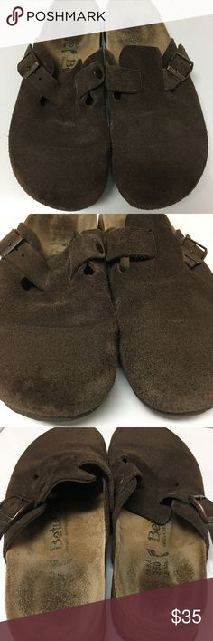 Betula Birkenstock brown suede clog 8 Great pair of shoes lots of life size 8 ladies Birkenstock Shoes Mules & Clogs