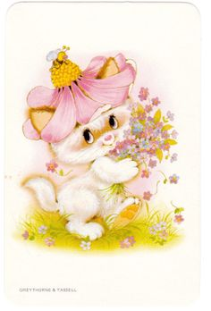 Vintage Swap Cards 1970s Blank Back Cute Cats Kittens | eBay