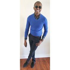 """""""The last few days..well..""""   Merino Wool Sweater - @Gap  Washed Shirt - @Jcrew  Skinny Belt - @ZaraMen  Wool Trousers - @Bonobos   Striped Socks - @Me_Undies  Suede Loafers - @SperryTopsider  Time Piece - @Timex  Bracelets - @Etsy"""