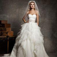 Justin Alexander 8640 Ruffle Wedding Dress