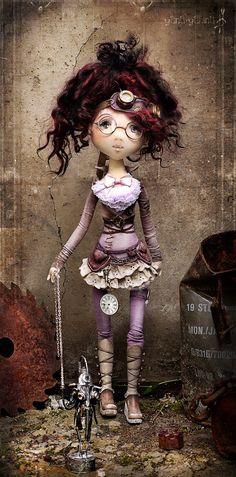 А теперь представляю вторую девушку эпохи механизмов и изобретений) Она Гала.  Вот все-таки, чудо рождения куклы, ее характера, это вылупле...