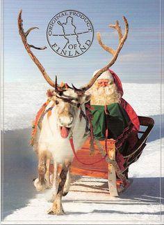 Suomi Finland - Lappi Lapland, joulukortti