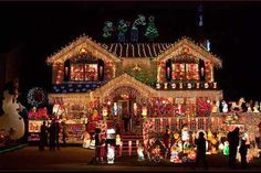 This home in Queens, New York, collects donations from visitors for a local children's hospital.