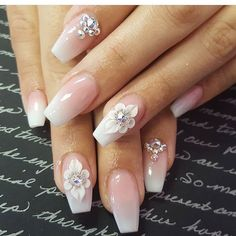 27 Trendy Nail Art Designs You Will Love 2019 – Styles Art 27 Trendy Nail Art Designs You Diy Wedding Nails, Wedding Nails Design, Jolie Nail Art, 3d Nail Art, Gorgeous Nails, Pretty Nails, 3d Flower Nails, 3d Nail Designs, Bride Nails