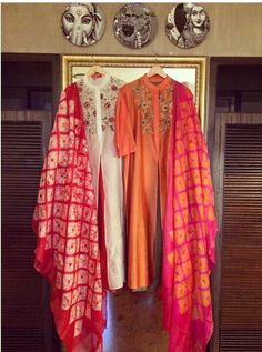 Tie and dye ❣️ Sizes till inbox for more details or for more updates pl. Indian Suits, Indian Attire, Indian Dresses, Indian Wear, Ethnic Suit, Indian Salwar Kameez, Beautiful Suit, Kurta Designs, India Fashion