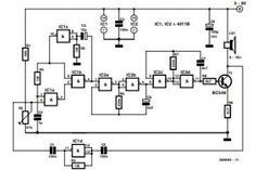 Diagrama esquemático del generador de sonido controlado por ruido