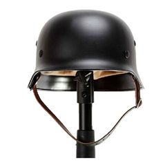 Generic WW2 WWII German Elite M35 M1935 Steel Helmet Black German Military M35 Soldier Uniform Helmets (WWII Replica) andgt