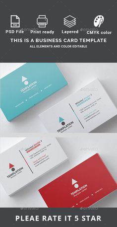 Business Card - Business Cards Print Templates Download here: https://graphicriver.net/item/business-card/19794546?ref=classicdesignp