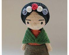 Frida Amigurumi Patron : Frida kahlo amigurumi doll pattern by locura hermosa amigurumi
