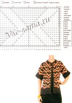 View album on Yandex. Knitting Stitches, Knitting Patterns, Crochet Patterns, Rowan, Zig Zag Pattern, Missoni, Knit Crochet, Chevron, Short Sleeve Dresses