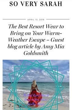 Happy #Friday everyone! Now that we're finally starting to get a little taste of #Spring its time to start thinking about those sunshine #holidays and more importantly shopping for them! 🙌😃☀️🏝  Check out the latest #blogpost to hit #soverysarah featuring a new #collaboration with Amy Mia Goldsmith  and what to pack for your next beach holiday!   https://soverysarah.com/the-best-resort-wear-to-bring-on-your-warm-weather-escape-guest-blog-article-by-amy-mia-goldsmith/