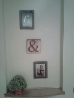 Dusty and I made the frames and ampersand from old barnwood. (We have a super awesome carver!) Let me know if anyone is interested in custom orders. We are trying to start up a wood carving hobby on the side for fun. Email me or facebook me .