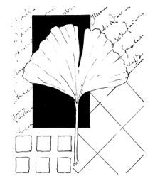 Unmounted caoutchouc Contexte Stamp - collage Ginkgo