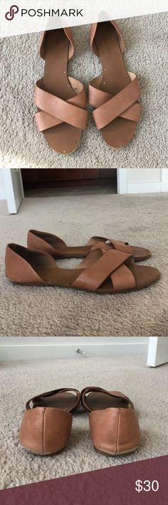 Madewell Crisscross Sandals My favorite slip on sandal that is so versatile. True to size, well-made, and are flexible (good for narrow or wide feet). Price significantly reduced due to some scuffing on the heels. Madewell Shoes Sandals