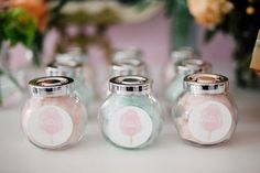 Candy cotton jars - Bun In The Oven Baby Shower (Style Me Pretty & SMP Living)