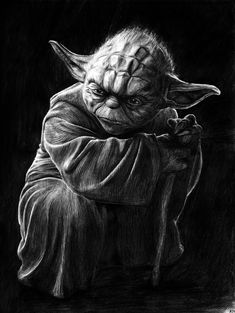 Yoda was the leading expert at the use of the force. More Yoda Quotes Images Star Wars, Star Wars Pictures, Yoda Drawing, Star Wars Painting, Star Wars Drawings, Creation Art, Darth Vader, Star Wars Tattoo, Star Wars Wallpaper