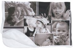 Collage de fotos de familia o de tu hijo, impresa en digital en una manta polar