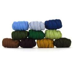 Spinzilla Special - Paradise Fibers Mixed Merino Wool Bag - Country Garden