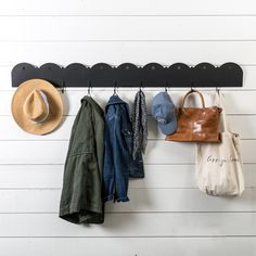 Schoolhouse Coat Rail- Comes in white. I like this for the entry way to hang coats and bags, and to give visitors a place to do the same.