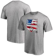 Los Angeles Kings Fanatics Branded Big & Tall Banner Wave T-Shirt - Ash